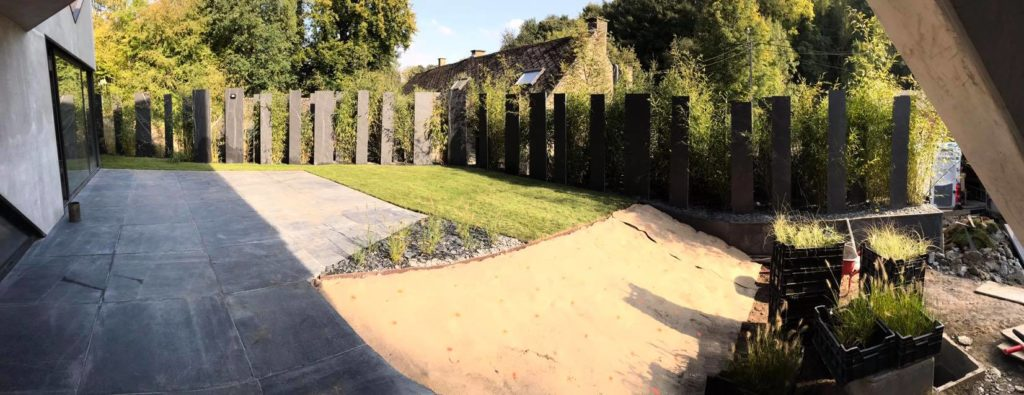 Quentin Halot, aménagement d'un jardin privé