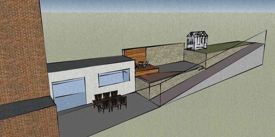 am nagement d 39 un jardin priv pi ce d 39 eau et terrasses ets quentin halot. Black Bedroom Furniture Sets. Home Design Ideas